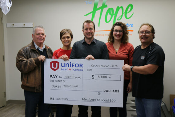 Hope Centre Thanks Members of Local 199