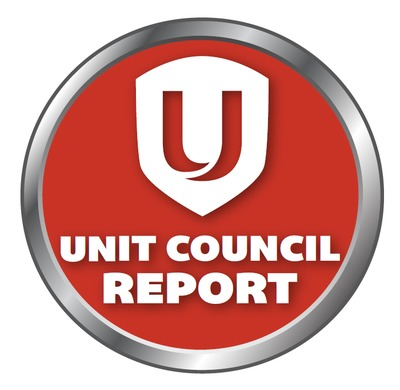 UNIT COUNCIL REPORT