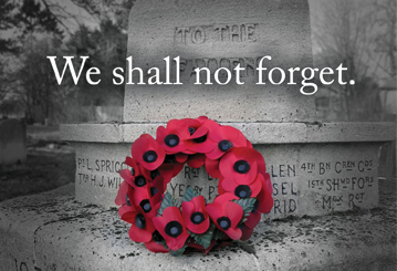 Remembrance Day 2020 (live stream)