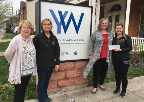 Unifor Donates to Woman Shelters