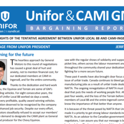 Unifor CAMI GM Bargaining Report