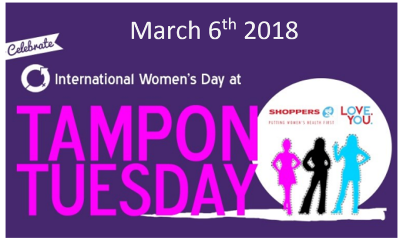 Tampon Tuesday March 6th 2018