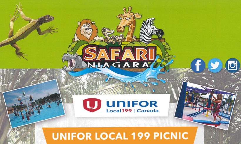 Unifor Picnic 2018 – Safari Niagara June 24th