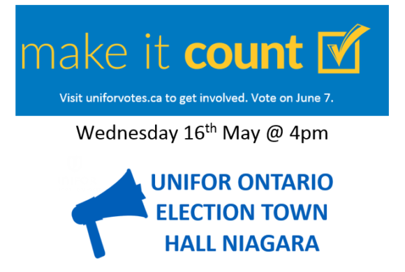 Elections Town Hall meeting – May 16th