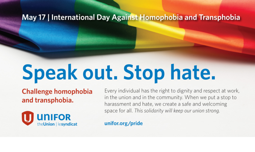 International Day Against Homophobia and Transphobia May 17th