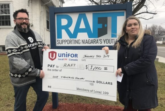 Young Workers & LGBTQ Committees Donate to RAFT