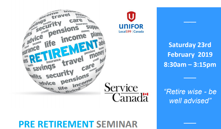 Pre Retirement Seminar Feb 2019