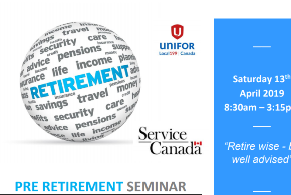 Pre-Retirement Seminar April 13th 2019