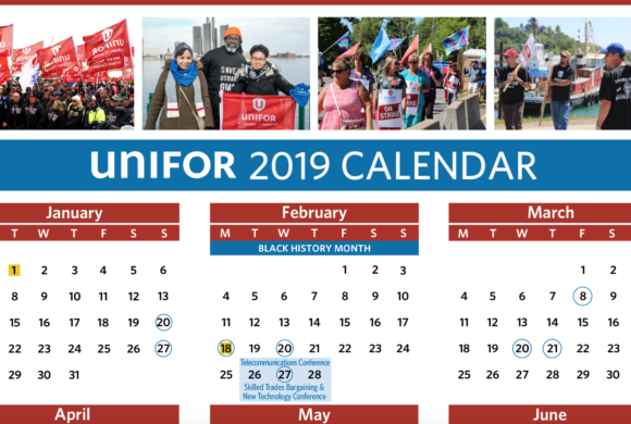 Unifor 2019 Calendar