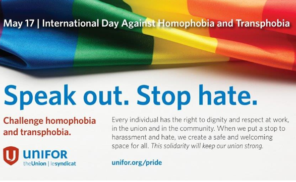 International Day Against Homophobia, May 17th
