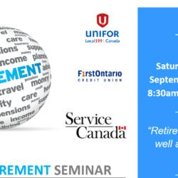 Pre Retirement Seminar Sept 2019