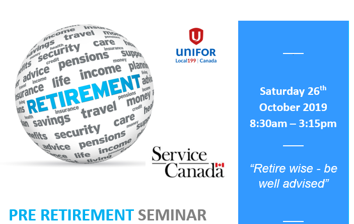 Pre Retirement Seminar NEW DATE