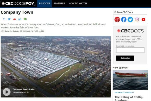 """Company Town"" Documentary about Oshawa GM, Airs Saturday"