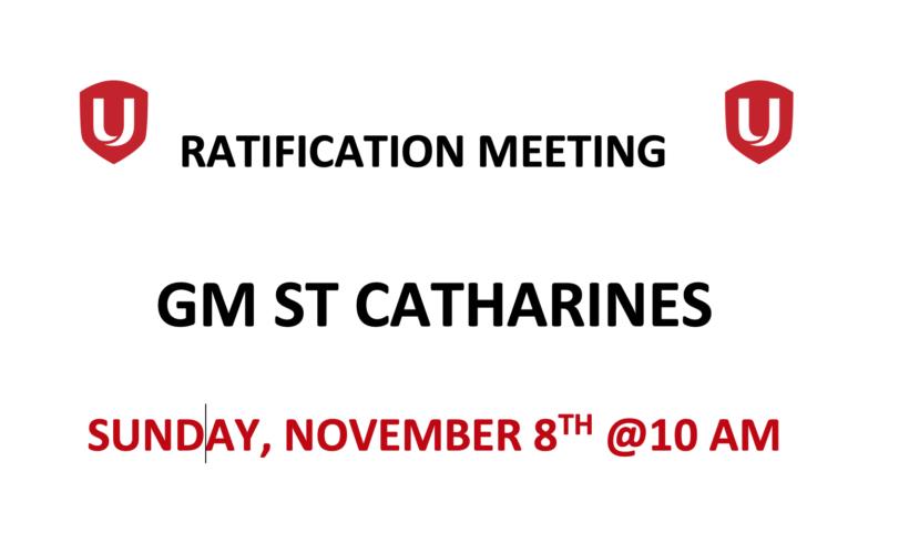 Bargaining Update #14 – GM St Catharines